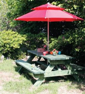 Country Home News :: 테이블과 의자를 한 번에 피크닉 테이블 만들기