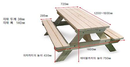 테이블과 의자를 한 번에 피크닉 테이블 만들기